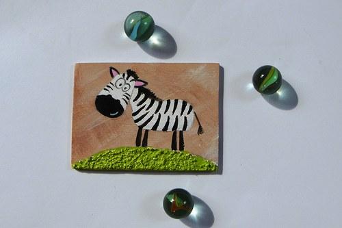 Magnet obdelníkový - zebra