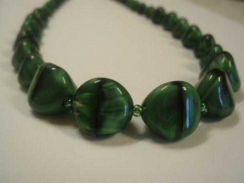 Malachitový náhrdelník