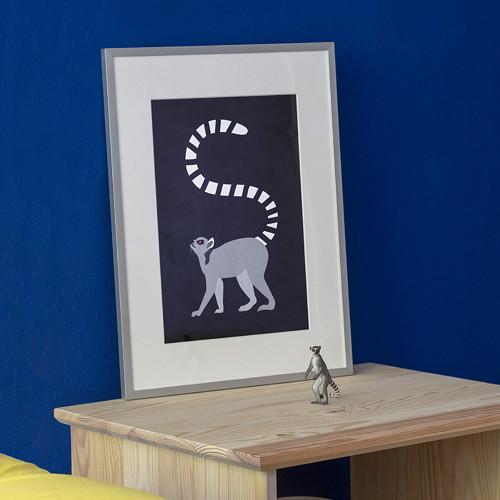 Plakát Lemur - v rámu