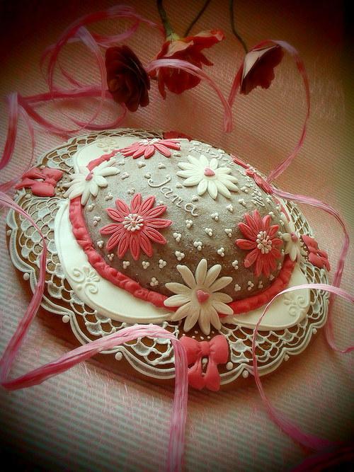 Narozeninový klobouk - romantický