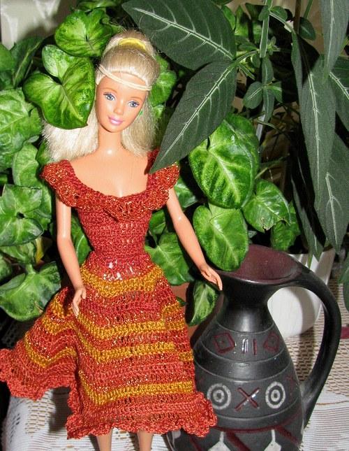Ohňové šaty   pro panenku Barbie