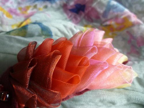 Poupata - lupina růžová - spona do vlasů