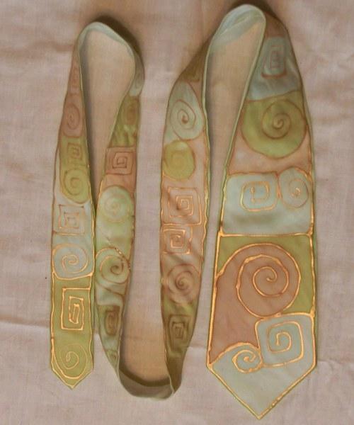 Spirálová kravata 140 x 8