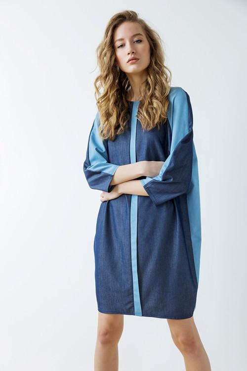 Modré šaty Geometric