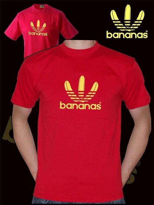 Pánské červené tričko Bananas