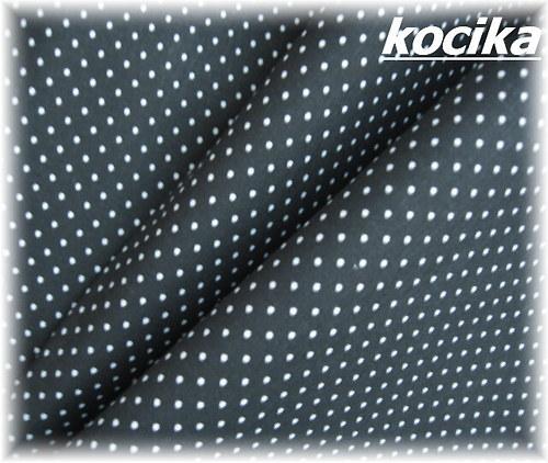 bavlněná látka-černobílý puntíček