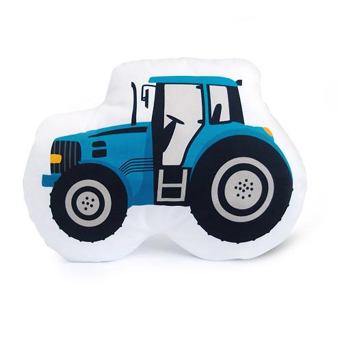 DOPRAVNÍ PROSTŘEDKY / traktor modrý / polštářek
