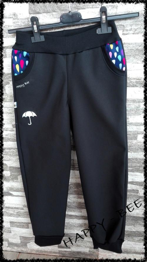 Softshellové kalhoty ŠEDÁ/VZOR  80-134