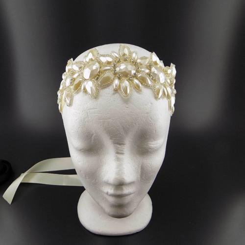 Svatební secesní ... čelenka či pásek