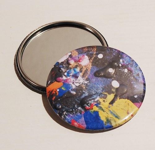 Zrcátko malovaný vesmír (75 mm) s pytlíčkem