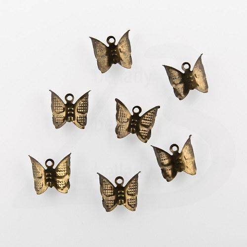 PRI528, PRÍVESOK Motýľ, BRONZOVÝ /20ks
