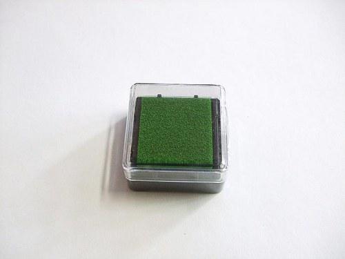 Razítkovací polštářek - sv. zelená