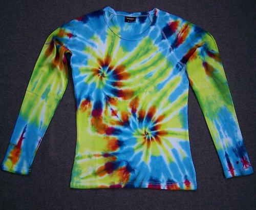 Dámské batikované tričko-dvojitá spirála