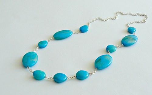 Tyrkysově modrý náhrdelník