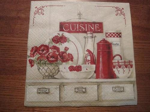 Ubrousek na decoupage - cuisine