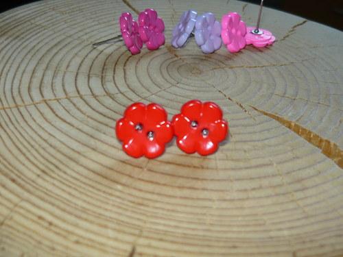 Kytičky červené - naušnice