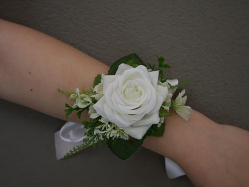 Květinový náramek smetanový