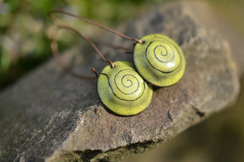 zelené  spirálky