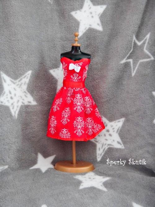 """SA0081 - Červené \""""korzetové\"""" šaty"""