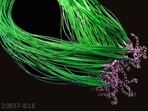 20857-B18 Lurexová náhrdelníková šňůrka ZELENÁ,1ks