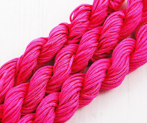 18m 57ft 19yrd Růže Tmavě Růžová Nylon Kabel Twist