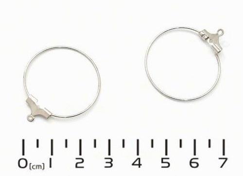 Náušnicové kruhy KREOLA Ø35mm stříbrné 1 pár