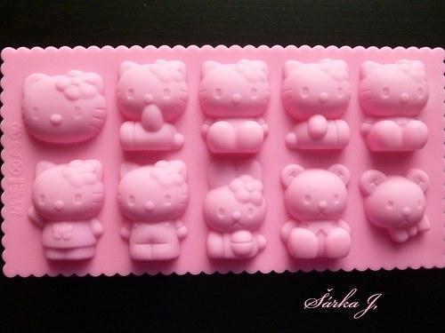 silikonová forma na mýdlo - kočičky Kitty