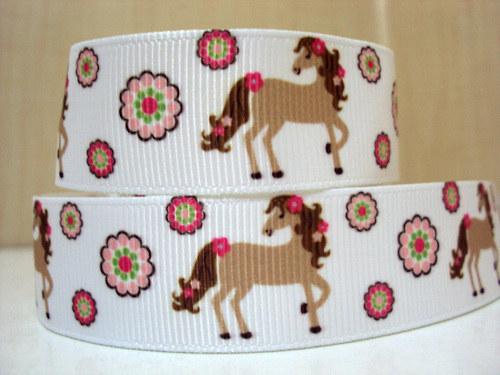 Stuha rypsová š.22 mm: Koně