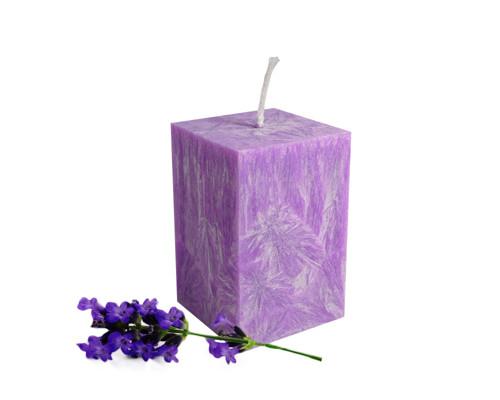 Svíčka z palmového vosku - malý hranol - lila