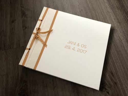 Svatební album se jmény a datem (krémové, Atyp)