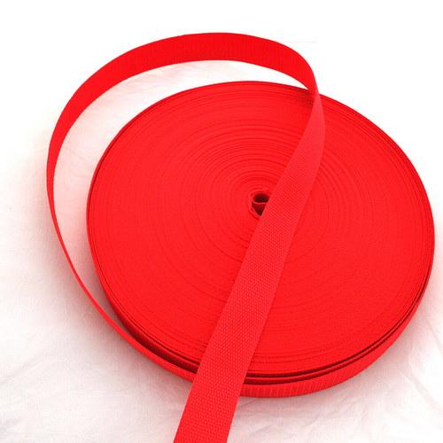 Popruh POP 2,5 cm - červená
