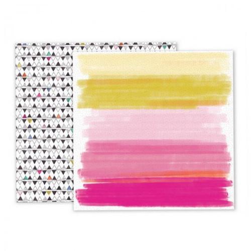 Scrapbook.papír Pink Paislee/Oh My Heart/Paper 08