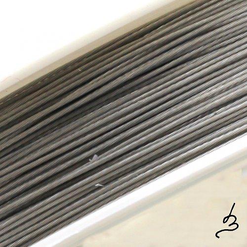 Ocelové lanko stříbrné 0,45