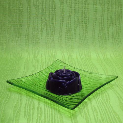 Svíčka dekorativní růže fialová - levandule