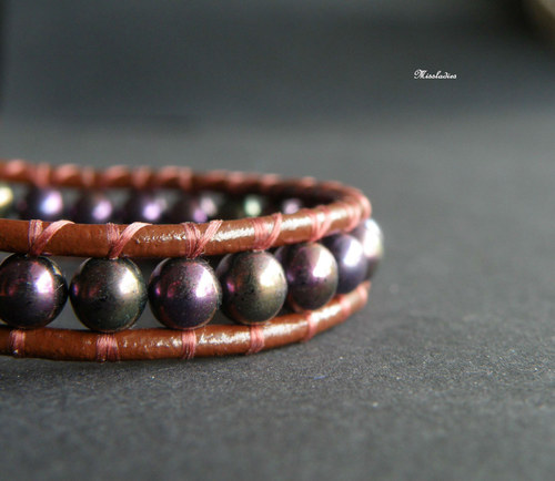 Wrap - Brown & Purple