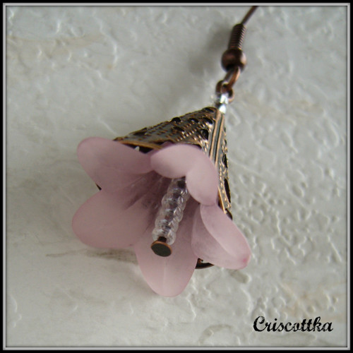 Náušnice Růžovounké zvonky