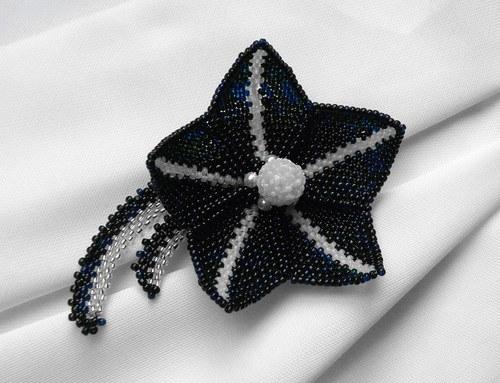 Brož - černý lotos