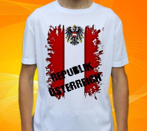 Dětské tričko s motivem  Vlajka RAKOUSKO