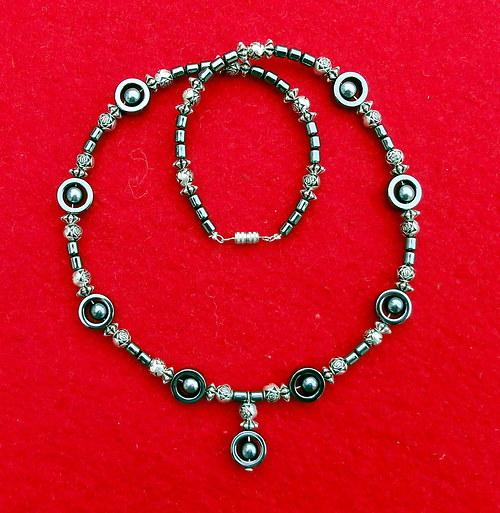 Hematitový náhrdelník s přívěskem 2