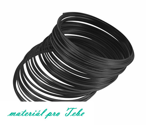 Paměťový drát - kvalitní ocel - 10 ot. - černý