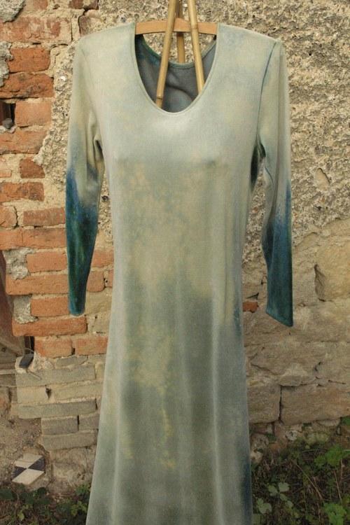 Šaty samet – Zelený mramor