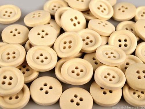 Knoflík dřevěný-2ks