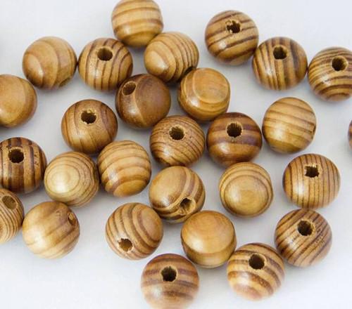 Korálky dřevěné 20 mm - sada 10 ks