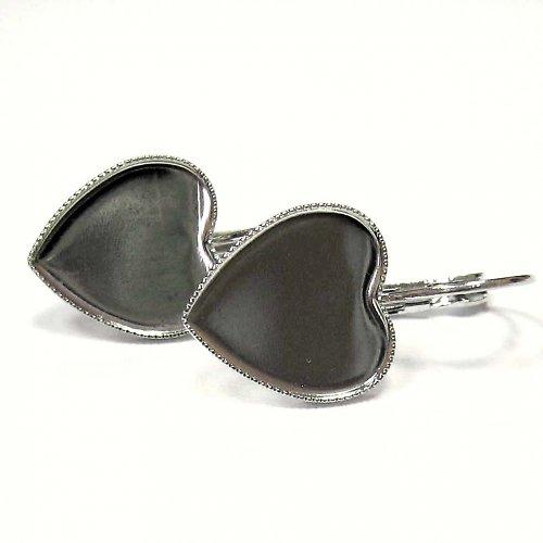 Visací naušnice srdce - 1 pár