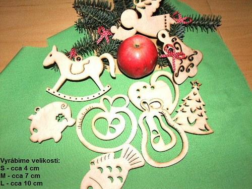 Vánoční dřevěné ozdoby FIGURKY - 9 druhů/27kusů