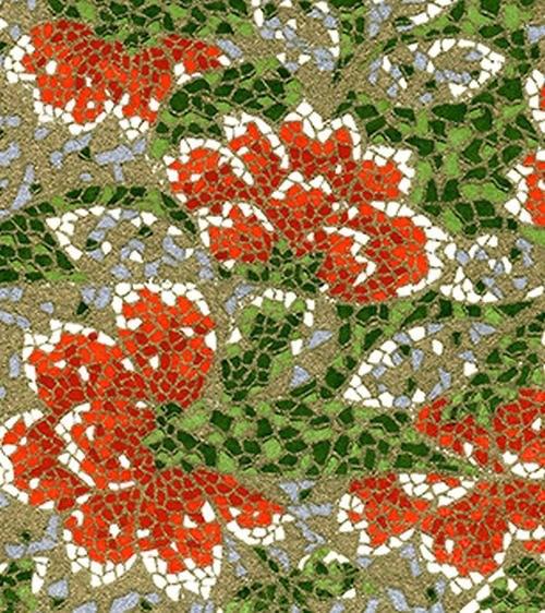 Handmade papír - Mozaika zlatá