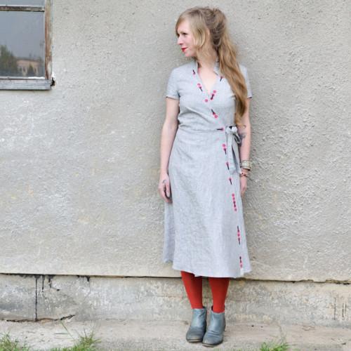 Lollipop Print Dress - lněné šatky s ručním tiskem