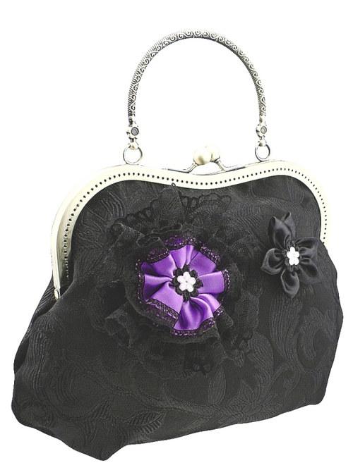 Dámská společenská černá kabelka 1040B