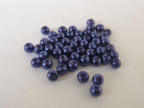 Vosková perla - tmavě fialová 3 mm / 30 ks