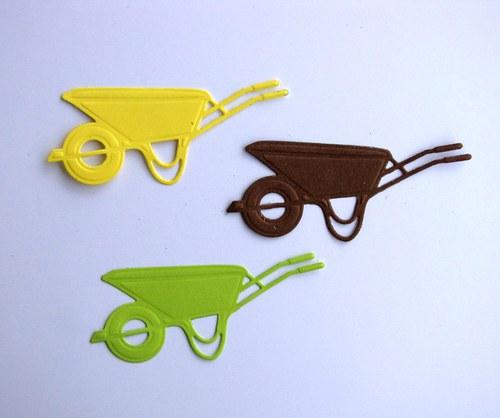Vozík (kotouč, kolečko) - 3 ks - barvy dle výběru